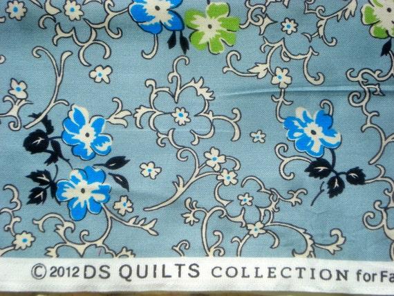 Richmond flowers vines blue DS Quilts Denyse Schmidt fabric  FQ or more