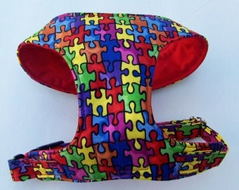 Puzzle Comfort Soft Dog Harness. -Made to Order -