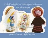 Crochet Nativity Set Amigurumi Dolls Toys People PDF Pattern 264 Christmas Decoration from WonkyZebra