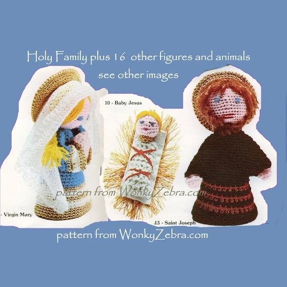 Items similar to Crochet Nativity Set Amigurumi Dolls Toys ...