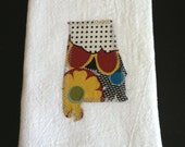 Alabama Applique Flour Sack Cotton Hand Towel