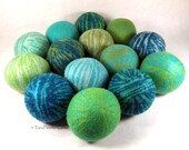 Wool Dryer Balls - Boys Will Be Dreamy Boys - Set of 14 - An Eco-Friendly Alternative to the Conventional Dryer Sheet and Fabric Softener!