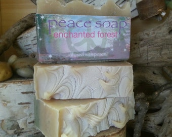 enchanted forest peace soap