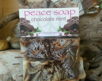 chocolate mint peace soap