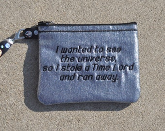 Doctor Who Idris Inspired Wristlet