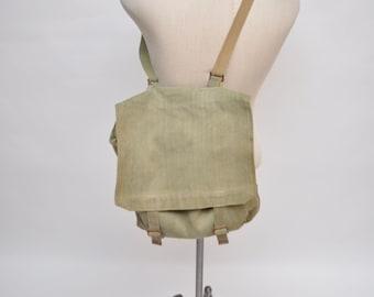 vintage canvas messenger bag shoulder bag military army bag