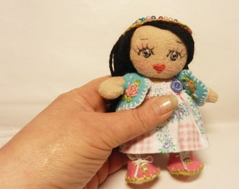 "only 4.5 inch Mini Articulated "" Doll Monika "" _Instant Download -Art Doll  E-tutorial -Pattern PDF DIY"