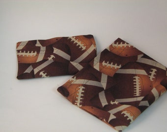 Kids Sports Bags Two Snack  Ziploc Alternative Football Bags READY to Ship Set of 2