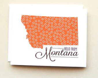 Hello from Montana Cards - Singles - State Cards