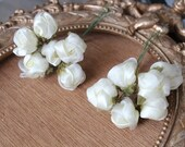 Cute  organza flower ivory   color 1 piece listing