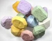 12 Jewel Shaped Bath Bombs - bath fizzy, bath fizzies, fizzy, gem, gemstone, party favor, wedding favor, wedding shower, engagement party