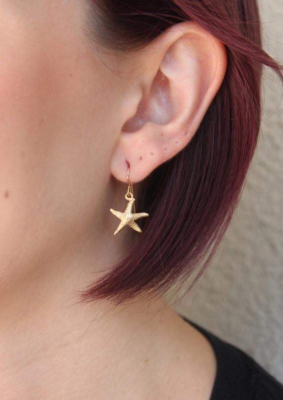 Gold Vermeil Starfish Earrings