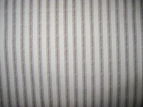 1 yard nursery rhymes cotton fabric beige ticking by for Nursery cotton fabric