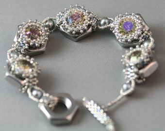 Crystals and Bolts Bracelet