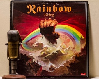 "ON SALE Ritchie Blackmore's Rainbow(w/Ronnie James Dio) Vinyl Record Album 1970s British Rock Heavy LP ""Rising""(Orig.1976 Polydor)"