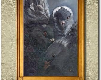 The Gathering - Fine Art Print on heavy Cotton Canvas - unframed
