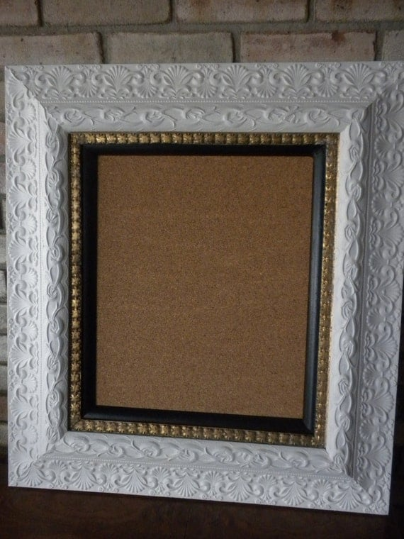 Vintage Picture Frame with Corkboard Reserved for Jill