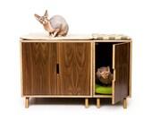 Modular Cabinet Set /// Mid Century Modern Pet Furniture // Cat Litter Box Cover // Pet House // Credenza