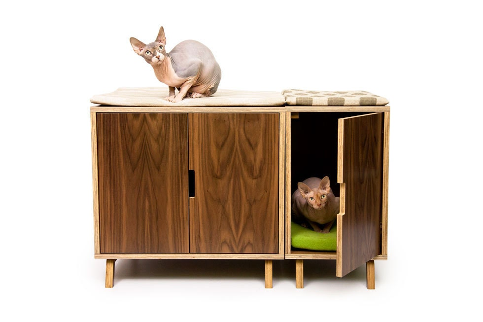 mid century modern cat litter box furniture large cat litter box cover dog cat house walnut side table modular cabinet set cat litter box covers furniture