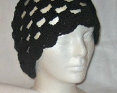 Crocheted Spring Beanie: Neutral colors