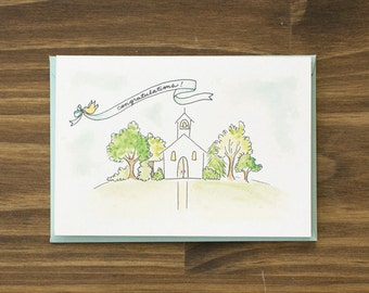 wedding chapel congratulations card