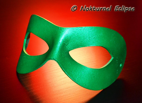 Green Riddler Leather Mask Superhero Masquerade Batman Marvel Halloween Comic Con SDCC Cosplay Costume UNISEX - Available Any Basic Color