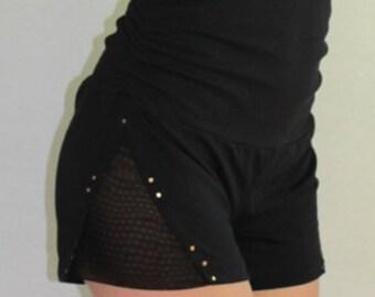 sale side mesh hight waisted shorts