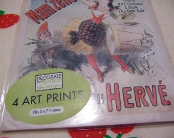 four frame-able art pieces