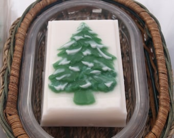 Christmas tree soap scented in Winter White