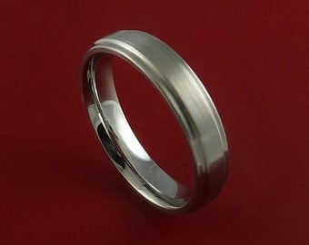 Titanium Wedding Band Engagement Ring CLASSIC Made to Any Sizing and Finish 3-22