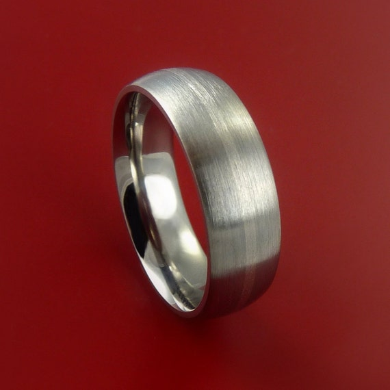 platinum and titanium wedding ring custom by stonebrookjewelry