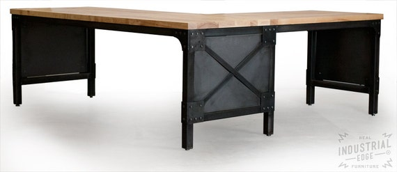 Items Similar To Office Desk Custom L Shaped Ash Top