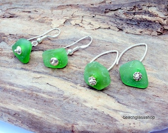 GENUINE Sea Glass Earrings -  Lake Erie Beach Glass