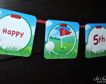 Golf Birthday Banner, Boys Birthday Banner, Golf Party Decorations, Sports Birthday Banner, Party Banner, Mens Birthday Banner