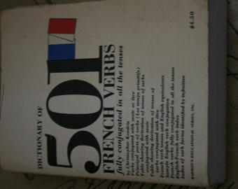 Dictionary of 501 French Verbs fully conjugated in all the tenses Vintage Paperback Book