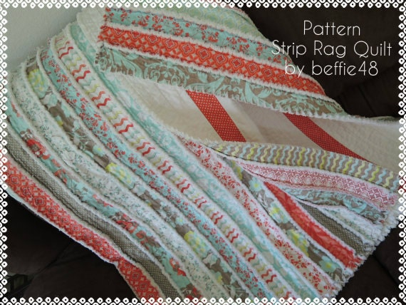 Jelly Roll Rag Quilt Pattern Tutorial Easy to Make Instant : easy rag quilt patterns - Adamdwight.com