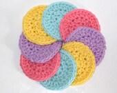 Cotton Crochet  Scrubbie -  Set of 8 Face Scrubbies