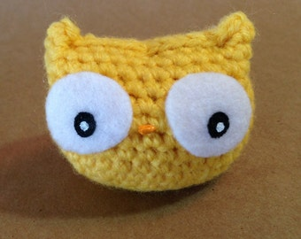 Sunny Owl // amigurumi // corn yellow