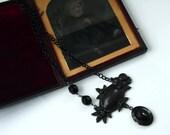 Neo Victorian Black Gothic Mourning Acorn Locket Necklace - MOURNING - Ltd Ed of 2 - Etsy uk
