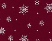 Closing Shop Christmas Home Dec  Fabric Yardage - Snowflakes - Fabric Finders- 60 Inches Wide -  1 Yard
