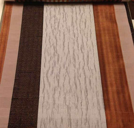 custom rust orange curtains with large stripe pattern one 50in w x