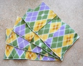 Fleece Swiffer Sweeper Pad- Green Argyle