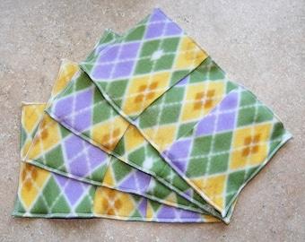 Fleece Swiffer Sweeper Pad Refill- Set of 2- Green Argyle- 25009