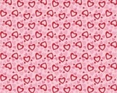 Holiday Banners Hearts Multi by RBD Designers for Riley Blake, 1/2 yard
