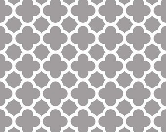 Basics Quatrefoil Gray by RBD Designers for Riley Blake, 1/2 yard