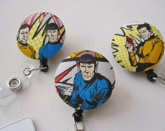 Swivel Clip Badge Reel in Star Trek- choose one style