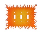 Decorative Lightswitch Flames - Triple Switch
