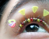 Guacamole Eyelash Jewelry - avocado and tortialla chip false eyelashes