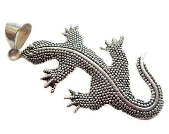 Sterling Silver Gecko Pendant