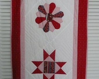 Small Quilt Wallhanger - Dresser Scarf - Table Topper - Table Runner